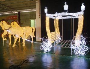 Wasserdichte im Freien Rotwild Christma Dekoration LED-3D