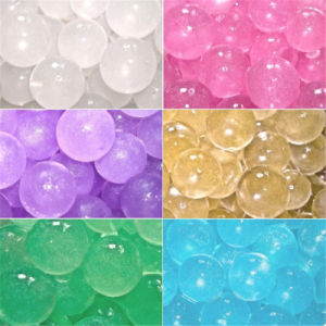 Centro de la boda de suelo de cristal Decoración bolas gelatina vaso de agua de llenado de cordones