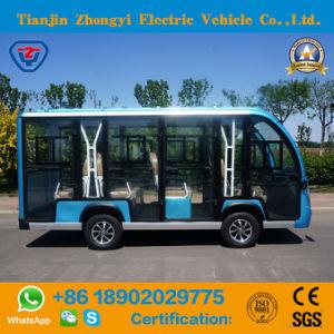 Zhongyi 11 lugares de autocarros de turismo alimentado por bateria com marcação CE