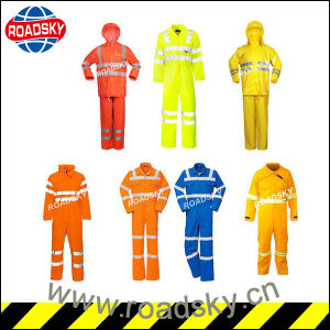 Orange hohe Sicht-lange Hülse Nomex reflektierende Sicherheits-Kleidung