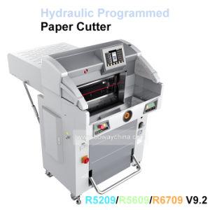 R5209 Hydraulique industrielle de la guillotine automatique programmé 520mm PLC COUPE PAPIER Prix de la machine de coupe