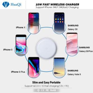 安く速くiPhoneのための無線電話充電器Ce/FCC/RoHSの8/8 Plus/X