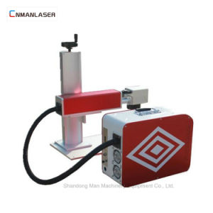 3D 금속을%s 휴대용 소형 색깔 섬유 Laser 표하기 기계