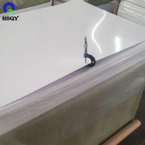 広告材料プラスチックPVCシートの光沢のある光沢のある白PVCシート