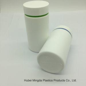2018 Venda quente em forma de cilindro de HDPE garrafa plástica de 250 ml com tampa dupla Embalagem