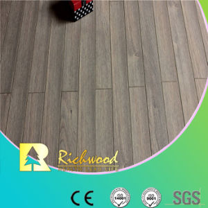 Hogar 12,3mm AC4 de suelo laminado impermeable Roble Repujado