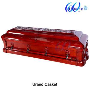 O mogno africano sólido Luxury esculpido Funeral Cofre de madeira maciça