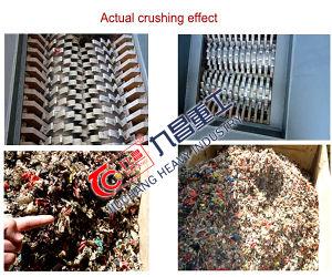 플라스틱 폐기물 분쇄 기계 샤프트 슈레더 플라스틱은 재생한다
