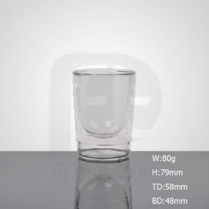 Tazza doppia sana di vetro di Borosilicate per l'ufficio