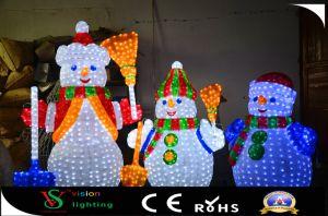 Schneemann des Weihnachtsim freien dekorativer Acryl-LED
