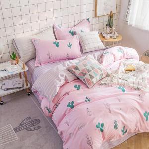 中国の製造者はMicrofiberの慰める人セットの敷布の寝具セットを卸し売りする