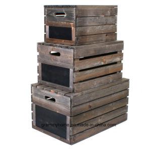 フランスの旧式なSlatted木枠はキャビネットを取った