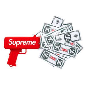 Pistola suprema dei soldi dei contanti del partito dei soldi dell'euro spruzzo falso del dollaro