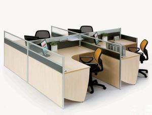 Stazione di lavoro di legno superiore del divisore in vetro dell'ufficio di spazio all'aperto di vendita (SZ-WST664)