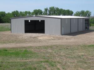 Estructura de acero Nave para la granja o taller.