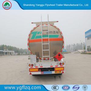 3つの車軸オイルのディーゼル燃料の記憶の輸送のトラック半アルミニウムタンクトレーラー