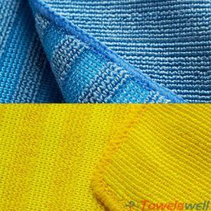 黄色い二重目的Microfiberの台所皿の布