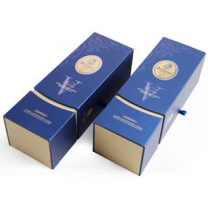 Le vibrazioni su ordinazione della stampa due di prezzi di fabbrica progettano il contenitore impaccante di singolo della bottiglia del vino regalo del documento