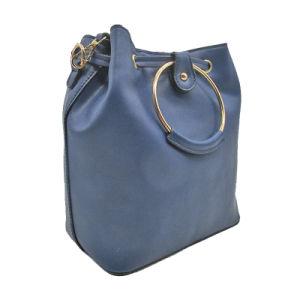 Sac de godet Hotsale femme style spécial PU SAC SAC DE GODET métallique de poignée de grandes capacités Lady sac