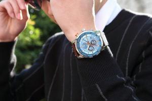 3fa458ee85e5 Los hombres de negocios militares de la marca de relojes de lujo en el  deporte masculino Relogio Digital de cuero de diseño retro de aleación de  la banda de ...