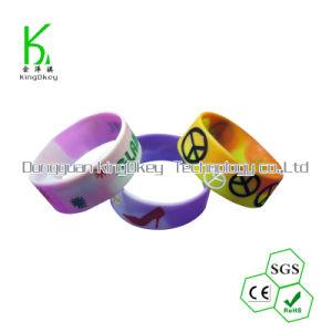 Del braccialetto braccialetto su ordinazione reso personale di gomma promozionale del silicone del Wristband del silicone altamente -