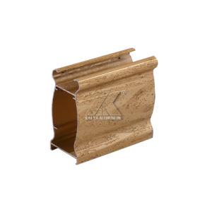 Il grano di legno di prezzi di fabbrica si è sporto blocco per grafici di alluminio per i portelli e Windows