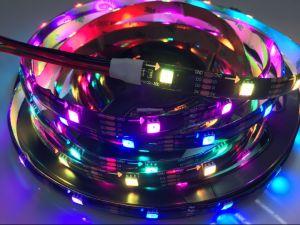 32LEDs/M Farbe Apa102, die RGB Digital 5050 LED-Streifen-Lichter schneidet