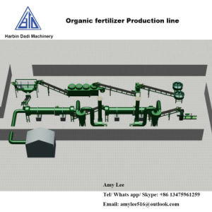 De organische Lopende band van de Machines van de Granulator van de Korrel van de Meststof