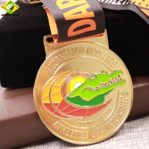 卸売によってめっきされるエナメルの競争は習慣の連続したメダルを遊ばす