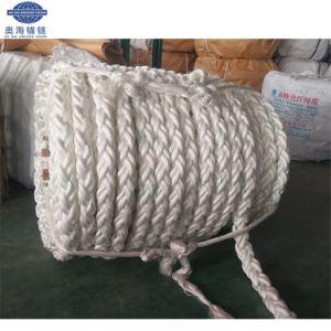 8 Strang-weißes Farben-Polypropylen-Lieferungs-Liegeplatz-Seil
