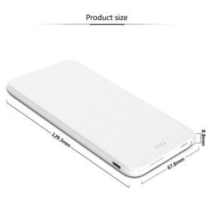 Pack de 5000mAh Cargador de batería externa portátil de copia de seguridad de batería externa.