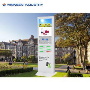 LCD, der Telefon-aufladenschließfach-Innenladestation-Kiosk bekanntmacht