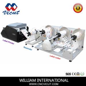 Film plastique, ruban mousse, une étiquette papier machine de coupe rotatif