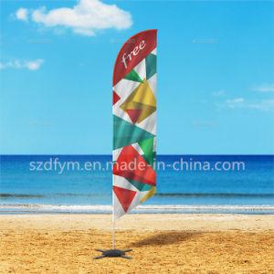 デジタル印刷ポリエステルカスタム涙のフラグの羽の上陸海岸表示旗