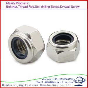 prix d'usine Grade8.8 DIN958 en acier au carbone de l'écrou verrouillé en nylon