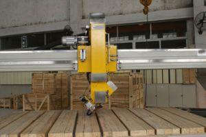 Máquina de corte automático de la sierra de puente de piedra