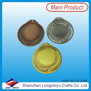 Medals poco costoso Metal Blank Medal 65mm Gold Silver Bronze Blank Sport Medal Metal (lzy00048)