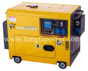 6.5Kw 6.5kVA Air-Cooled Silent тип одного цилиндра дизельного генератора с САР
