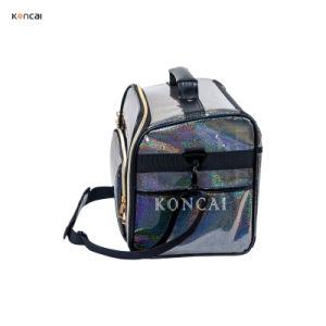 Дружественность к окружающей среде Блестящие цветные лаки цветной ПВХ подарок сумочку Логотип косметические сумки