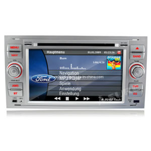 7  silberner HD DVD-Spieler Navigation System für Ford Focus C-Max S-Max Fiesta Galaxy Fusion (AS-LFF3RS)