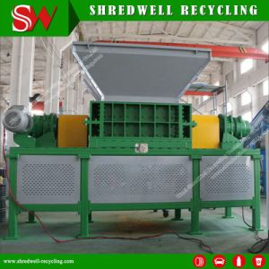 Автоматическое оборудование для переработки отходов пластмассовых отходов электронного шреддинга барабан/расширительного бачка/ковш