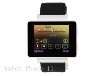 iPhone/Android Phones (MS005H-I1)のためのSmart最も新しいWatch Phone同期信号