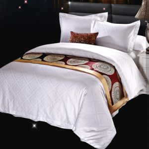 100%年の綿のホテルの寝具のホテルの織物