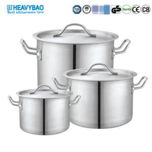 Pot standard en acier inoxydable Heavybao avec couvercle ustensiles de cuisine