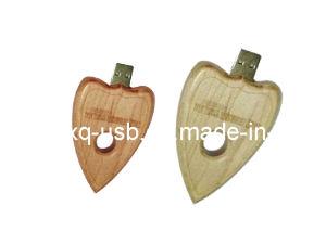 木の中心USBのフラッシュ