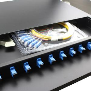 FC/SC/ST/LC MPO Patch Panel de fibra óptica