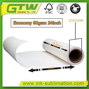 documento di sublimazione del rullo enorme 90GSM nel formato differente di pollice