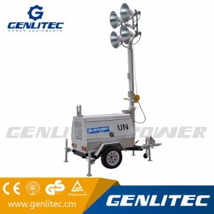 Genlitec力(GLT4000-9M) 9mの高いマストの手動照明タワー4*1000Wのフラッドライト