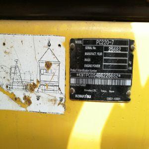 Il Giappone ha utilizzato l'escavatore del macchinario dell'ingegneria idraulica di KOMATSU PC220-7