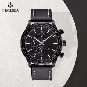 Relojes impermeables del cuarzo del cuero genuino de la marca de fábrica de los relojes de Mens del deporte de la manera